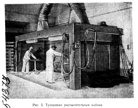 Тупиковая распылительная кабина