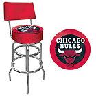 Мягкий Поворотный Барный стул с символикой NBA Chicago Bulls