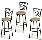 Набор из 3-ех барных стульев - поворот на 360 градусов и регулировка по высоте