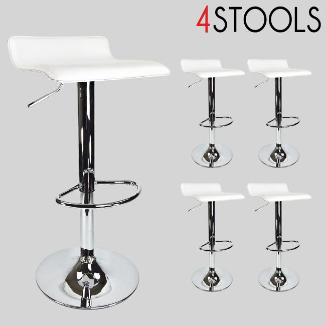 2 новых Современных поворотных барныех стула (цвет белый)