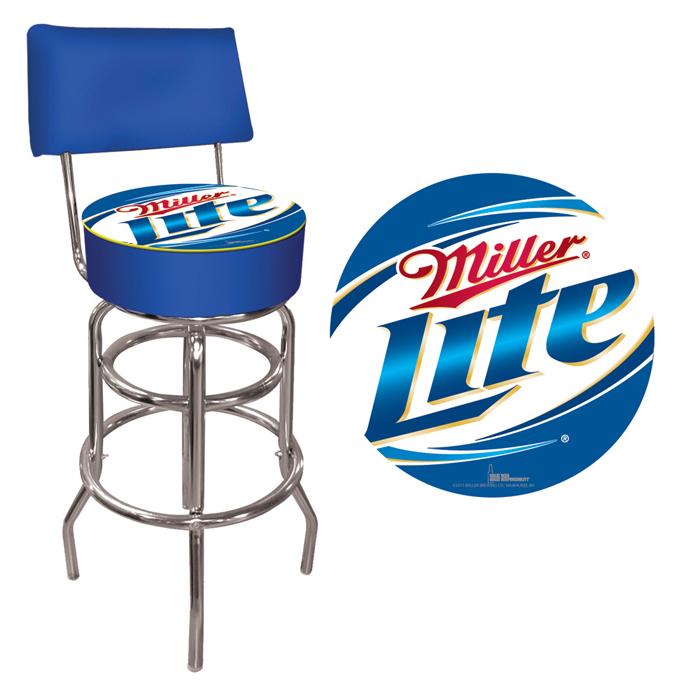 Miller Lite Pub Барный стул со спинкой - готово к отправке