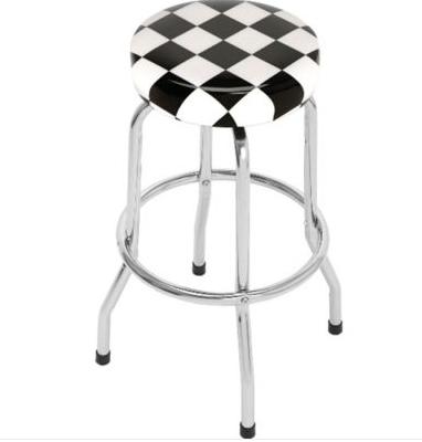 Высокий новый барный стул с шашечками