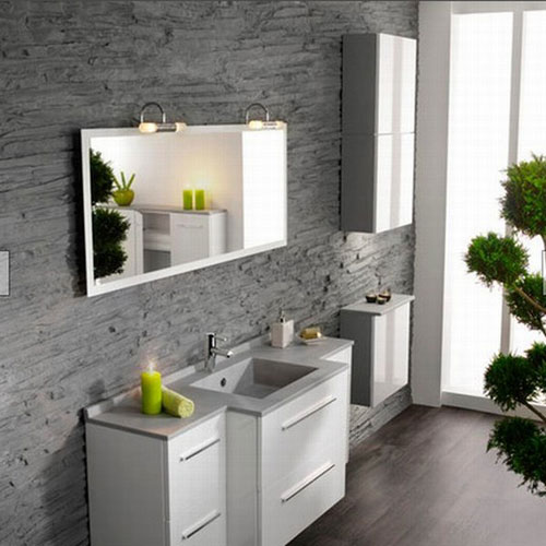 Серо-белый дизайн ванной комнаты - Ванная комната дизайн фото фото