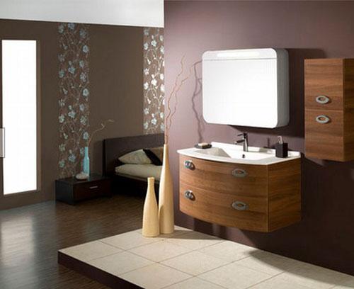 Уютный коричневый дизайн ванной  - Ванная комната дизайн фото фото