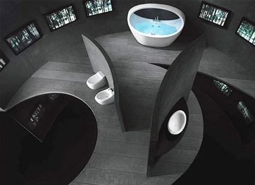 Большая круглая ванная комната - Ванная комната дизайн фото фото