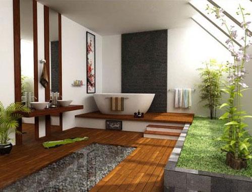 Дизайн ванной комнаты в японском или китайском стиле - Ванная комната дизайн фото фото