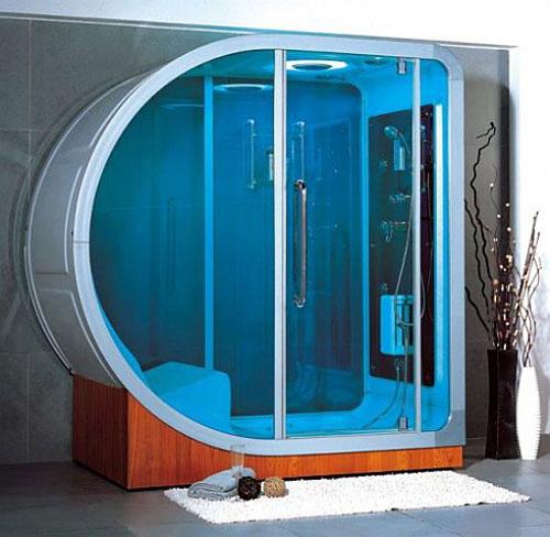 Необычная душевая кабина - Ванная комната дизайн фото фото