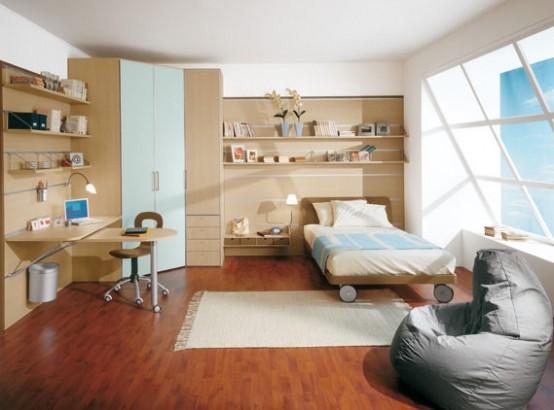 Дизайн просторной детской комнаты - Мебель для детской комнаты фото