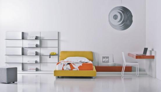 Мнималистичный дизайн комнаты подростка - Дизайн комнаты для подростка, мебель фото фото