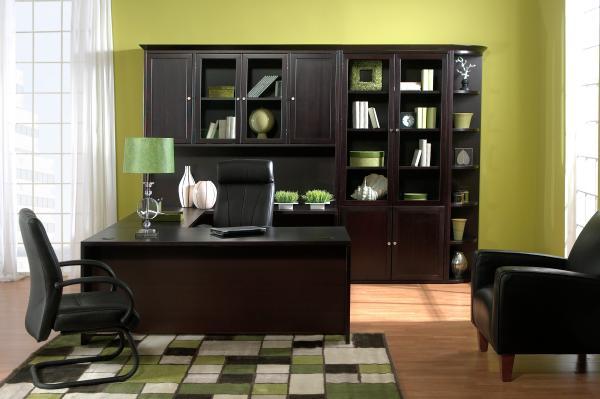 Прекрасный кабинет чёрного дерева - Мебель для кабинета фото