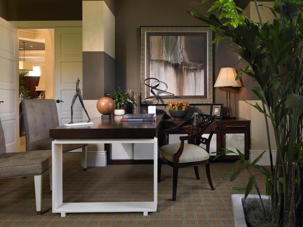 Домашний офис в стиле эклектика - Мебель для кабинета фото