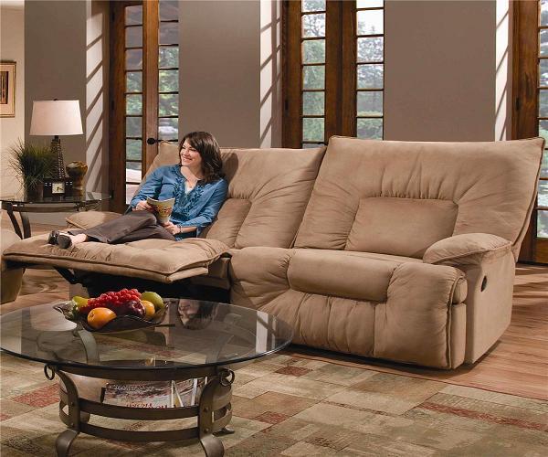Всего комфортнее диван из Тан кожи - Гостиные - дизайн и мебель фото