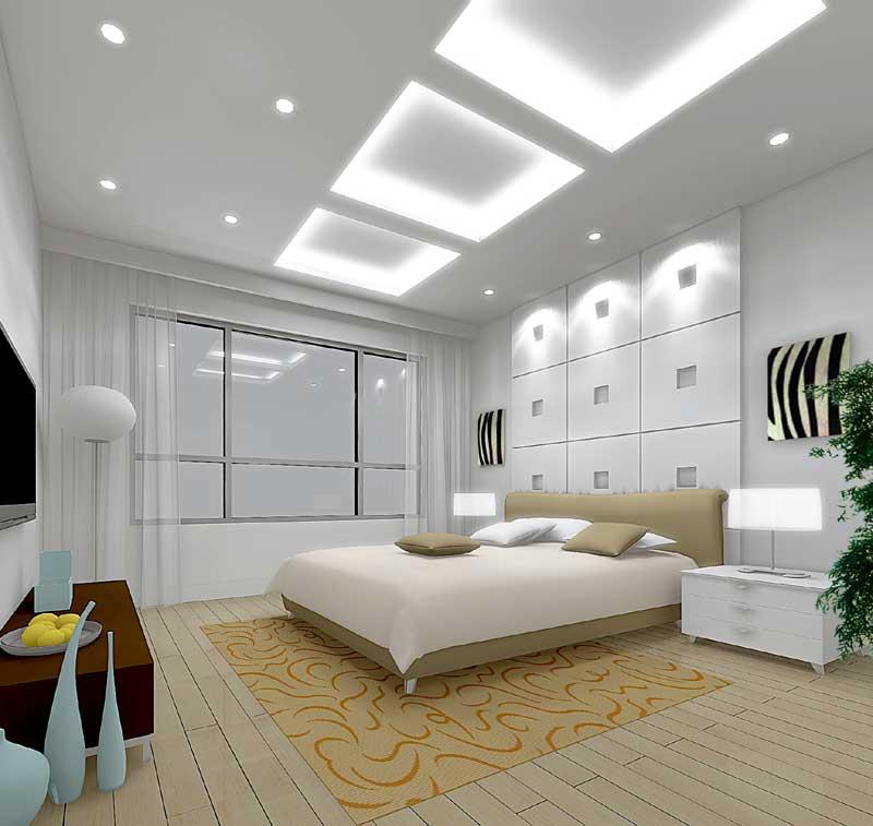 Дизайн спальни в белоснежных тонах - Дизайн интерьера спальни и мебель фото