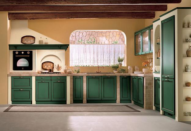 Модульная кухня в интерьере прованс - Интерьер кухни (кухонная мебель) фото