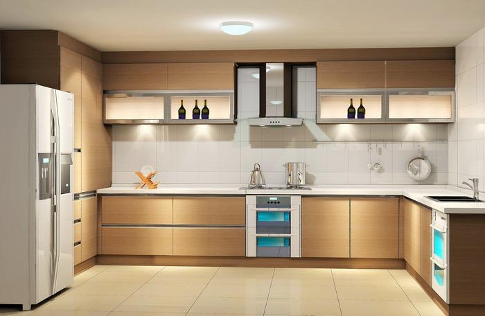 Красивая современая модульная кухня - Интерьер кухни (кухонная мебель) фото