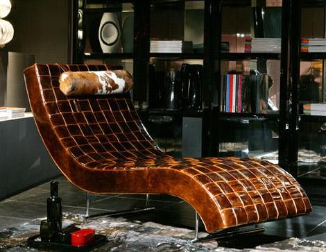 Современная мебель Шезлонг из Casa Nova - Amaka кожаный шезлонг - Кресла, полукресла, стулья фото