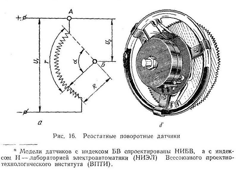 Реостатные (потенциометрические) или, как их еще называют, реохордные датчики - Разное фото