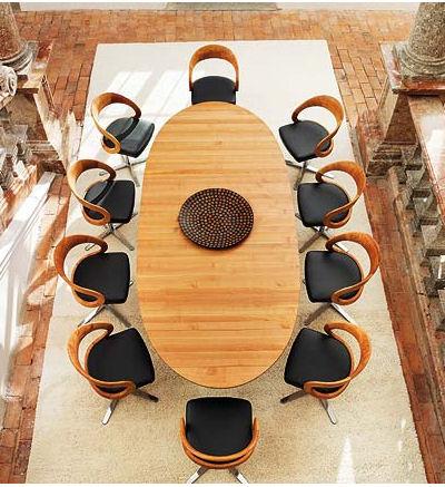 Современная мебель столовой Team 7 - набор столовый Girado - Обеденная комната, столы и прочая мебель фото
