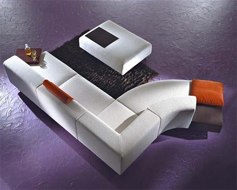 Модульный диван от Inventa Италия - Mille&Cento современный диван - Мягкая мебель фото