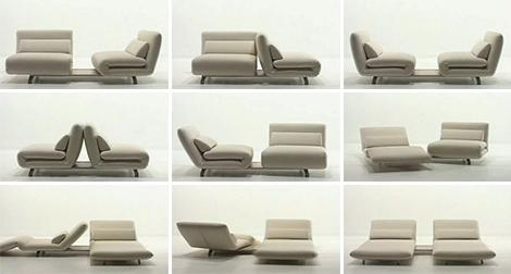 Двухместный диван из поворотных кресел от Futura - Le Vele диван: дизайн в движении - Разное фото