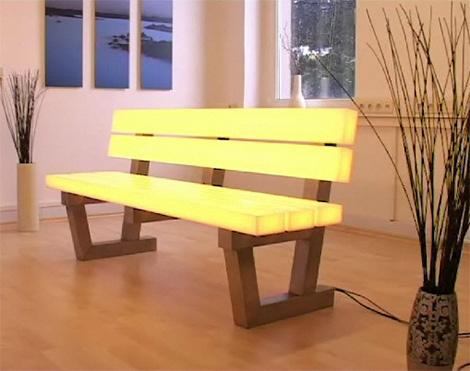 Легкая Скамья Frellstedt - современная технология светодиодного освещения RGB - Разное фото