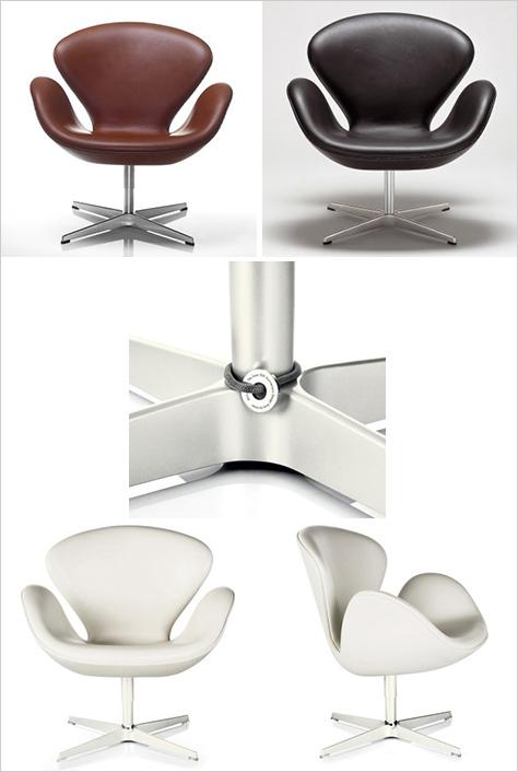 Кресло-лебедь и диван Arne Jacobsen от Fritz Hansen - Разное фото