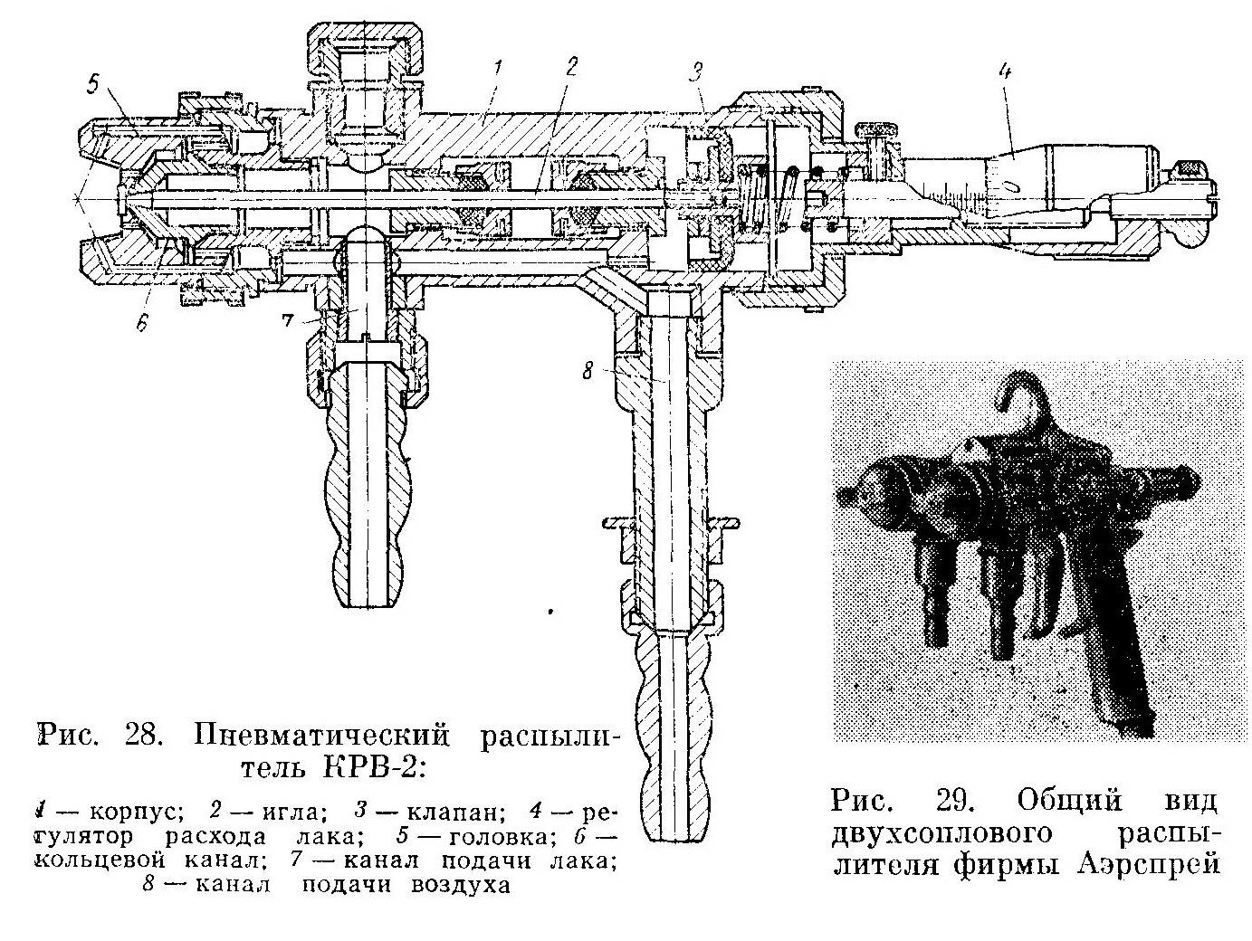 Конструктивное исполнение распылителя КРВ-2 - Разное фото