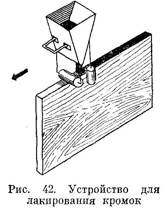 для лакирования кромок мебельных щитов применяется специальное устройство - Разное фото