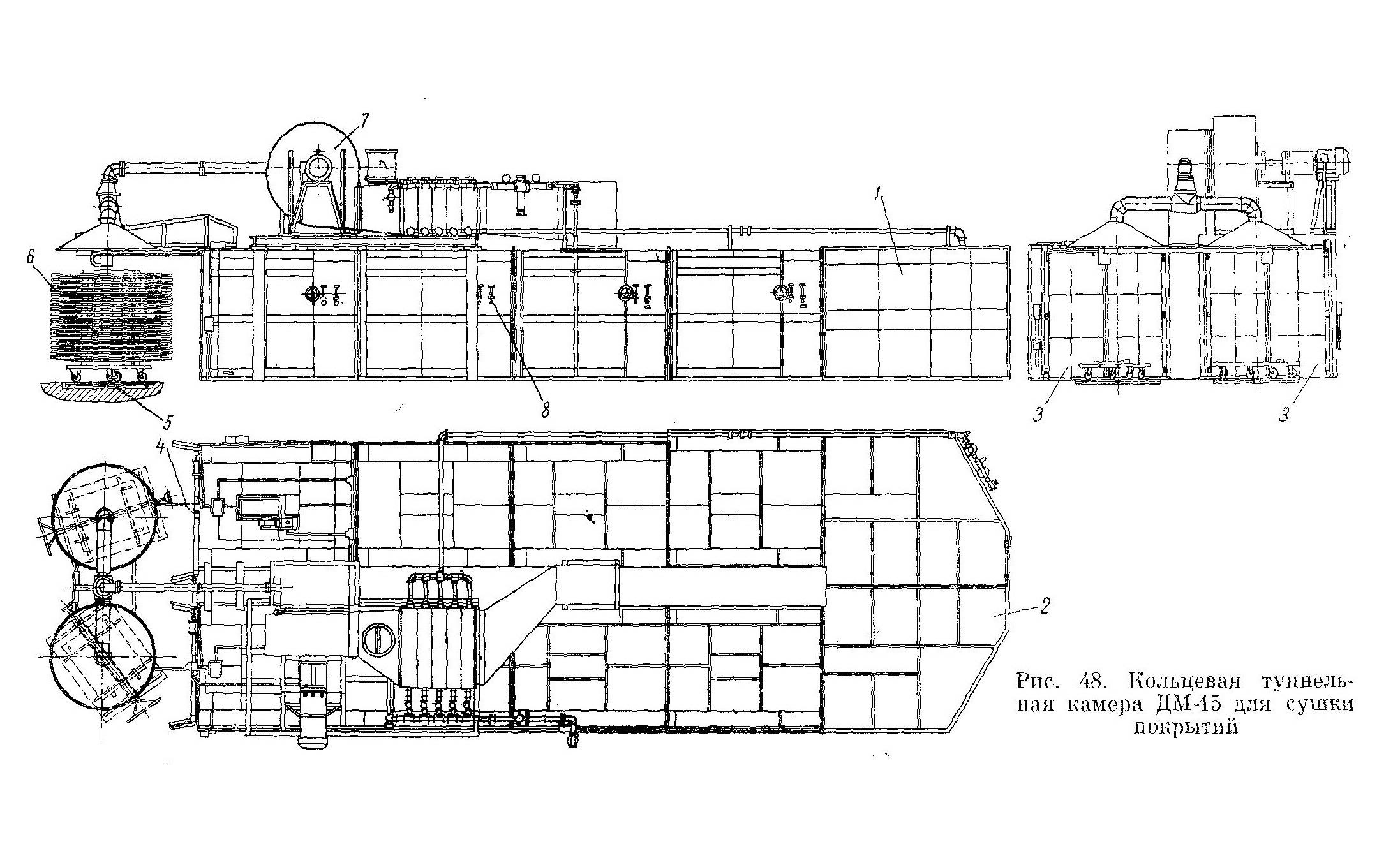Кольцевая туннельная камера ДМ-15 для сушки покрытий на плоских деталях (проект СКБД-1 ВНИИДМаш) - Разное фото