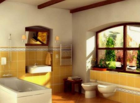 Ванная комната дизайн фото - Дизайн ванной комнаты в стиле прованс.