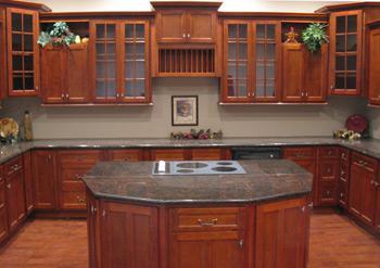 Вишневые 10'x10 ' кухонные шкафы, полностью оборудованная кухня ТОЛЬКО $ 2,307.89 с бесплатной доставкой!