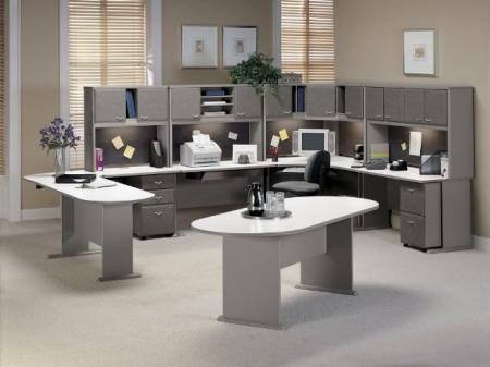 Просторная модульная офисная мебель-стена - Офисная мебель фото
