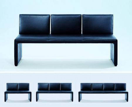 Кожный диван-скамья от Wittmann  - скамья Корсо дизайнера - красота в простоте - Мягкая мебель фото