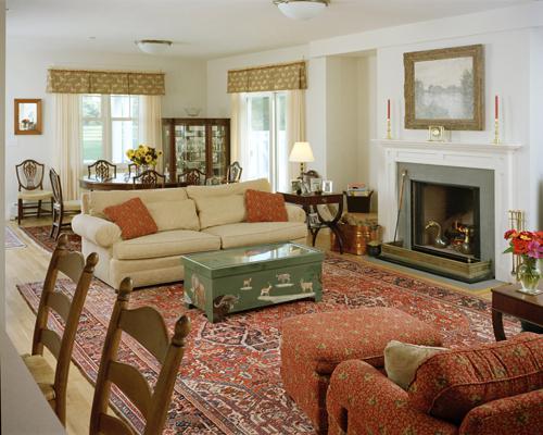 Современная многофункциональная гостиная фото