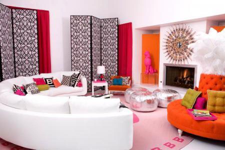 Необычная гостиная с элементами восточного стиля - Гостиные - дизайн и мебель фото
