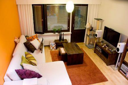 Уютный дизайн небольшой гостиной - Гостиные - дизайн и мебель фото