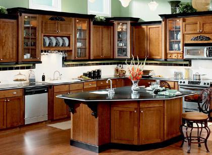 Классическая элегантная модульная кухня - Интерьер кухни (кухонная мебель) фото