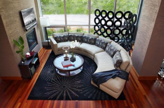 """Фото для """"Идеальное место для изогнутого или секционного дивана"""""""
